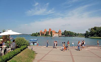 Trakai Island & Castle outside Vilnius, Lithuania. Flickr:Ulrika