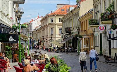Shopping on Vilniaus Gatve Street in Kaunas, Lithuania. CC:Adam Jones