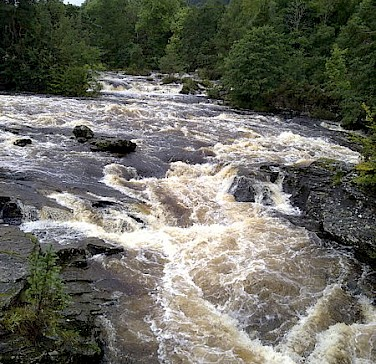 Falls of Dochart in Killin. Photo via Wikimedia Commons:Nigel Coates