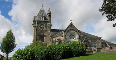 Pitlochry Church in town of same name. Photo via Wikimedia Commons:Michael Hanselmann