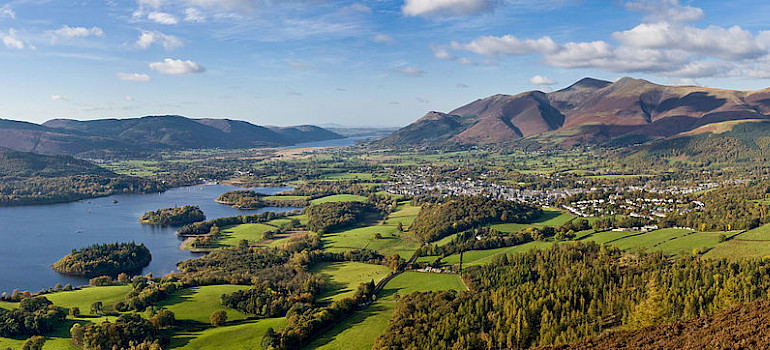 English Lake District, also known as The Lakes, Keswick. Photo via Wikimedia Commons: David Iliff.