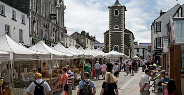 Keswick Saturday Market. Photo via Wikimedia Commons: David Iliff.
