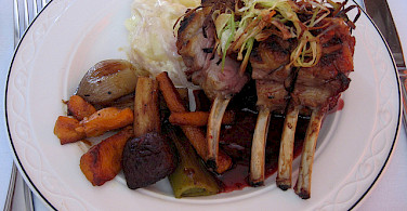 Rack of lamb. Photo via Flickr: Train Chartering & Private Rail Cars