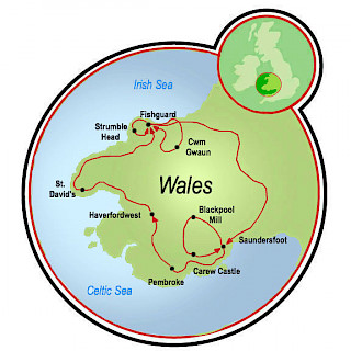 South Wales-The Region of Pembrokeshire Map