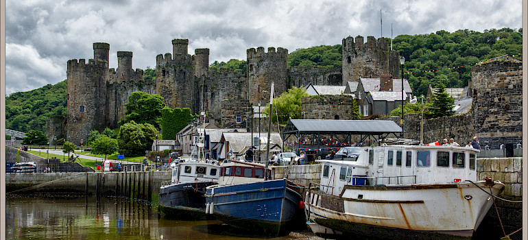 Conwy Castle in Wales, part of the United Kingdom and Great Britain. Photo via Flickr:Bert Kaufmann