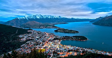 Lake Wakatipu and Queenstown from Bob's Peak, South Island, New Zealand. Photo via Wikimedia Commons:Lawrence Murray