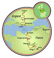 Paris to London Map