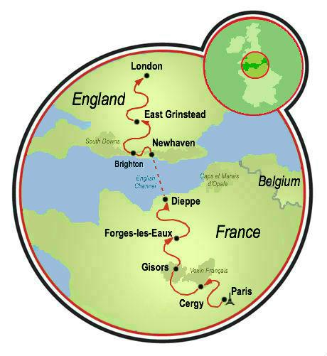 Paris To London Bike Tour England France Tripsite - Is paris in france