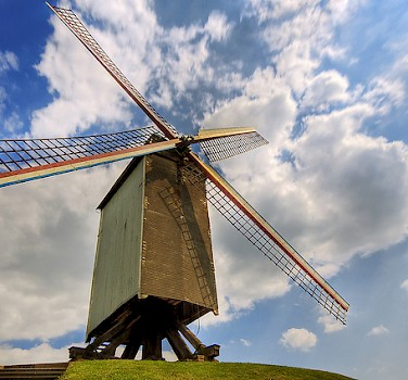 Windmill in Bruges. Photo via Flickr:Wolfgang Staudt