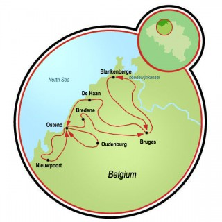 Family Friendly Bruges Map