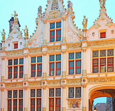 Bike rest to enjoy the great architecture in Bruges, Belgium. Photo via Flickr:Dennis Jarvis