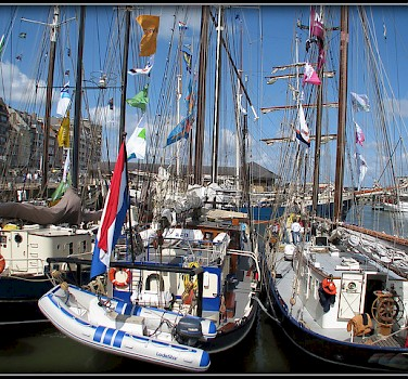 Boats in harbor in Ostend, Belgium Photo via Flickr:sophie