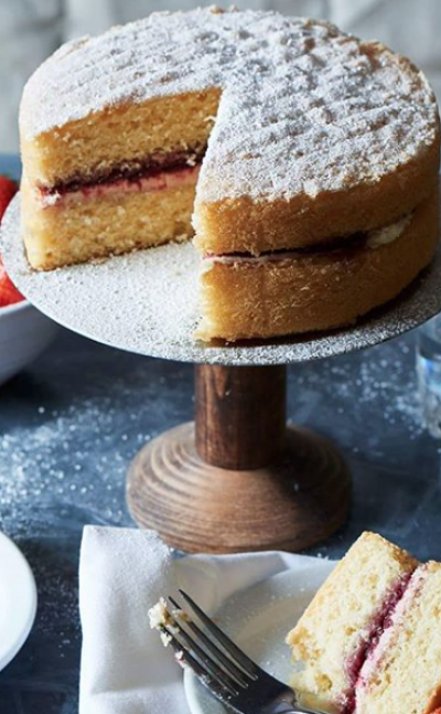Afternoon tea & Victoria Sponge cake, yummy local treats. Photo via TO