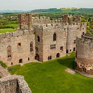 Interior view of Ludlow Castle in Shropeshire, England, United Kingdom. Flickr:bvi4092
