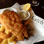 Fish and chips in England, of course! Flickr:Smabs Sputzer