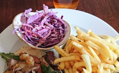 Herefordshire beef and beer. Photo via TO