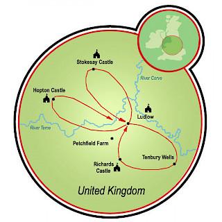 Around Medieval Ludlow Map