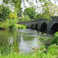 Bridge at Leintwardine. Quiet country biking. Photo courtesy of TO
