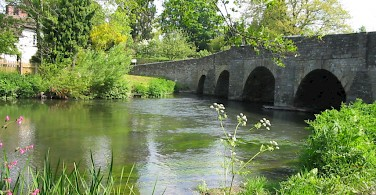 Bridge at Leintwardine. Quiet country biking. Photo courtesy of Wheely Wonderful Cycling.