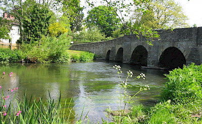 Bridge at Leintwardine. Quiet country biking. Photo courtesy of TO