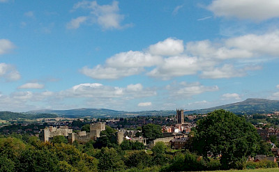 Overlooking Ludlow's castles and Clee Hills. Photo via TO