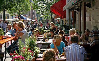 Outdoor dining in Amsterdam, North Holland, the Netherlands. ©TO