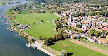 Towering Cunera Church in Rhenen, Utrecht, the Netherlands. Wikipedia Commons:Joop van Houdt