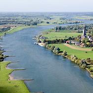 Rhenen on the Rhine River in Utrecht, the Netherlands. Wikipedia Commons:Joop van Houdt