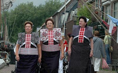 Traditional ladies in Spakenburg, Utrecht, the Netherlands. ©TO