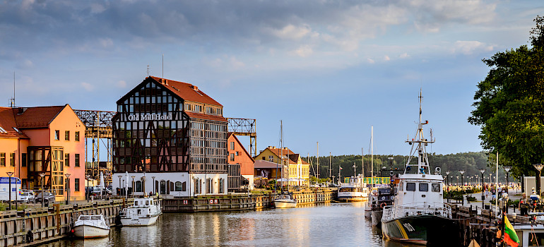 Port in Klaipėda, Lithuania. Photo via Flickr:Mantas Volungevicius