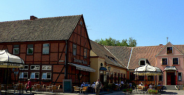 Timbered houses in Klaipeda, Lithuania. Photo via Wikimedia Commons:Wojsyl