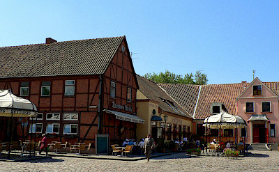 Timbered houses in Klaipeda, Lithuania. Photo via Wikimedia Commons:Wojsyl