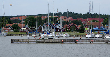 Nida, a resort town on the Curonian Spit, Lithuania. Photo via Flickr:Bernt Rostad