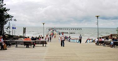 From bike to beach and pier in Palanga, Lithuania. Photo via Wikimedia Commons:Algirdas