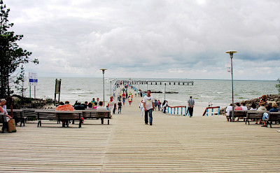 From bike to beach and pier in Palanga, Lithuania. Photo via Wikimedia Commons:Algirdas
