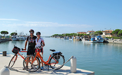 Bike rest on the Venice to Porec Bike Tour. ©Photo via TO