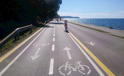 Bike path on the Venice to Porec Bike Tour. ©Photo via TO