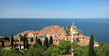Piran on the Adriatic Sea is part of Slovenia Istria. Wikimedia Commons:CC0 1.0