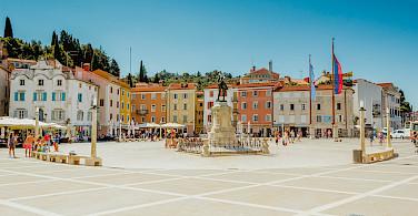 Tartini Square in Piran, Slovenia. Photo via Flickr:Marco Verch