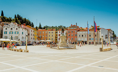 Tartini Square in Piran, Slovenia. Photo via Flickr:Marco Verch