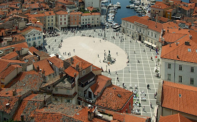 Overlooking Tartini Square in Piran, Slovenia. CC:Plamenagov