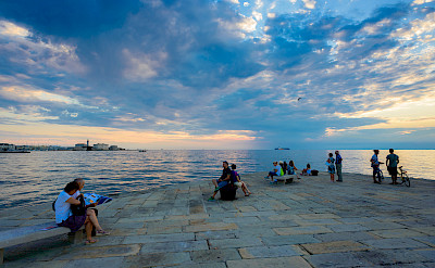 Relaxing on the coast of Trieste, Italy. Flickr:Nick Savchenko