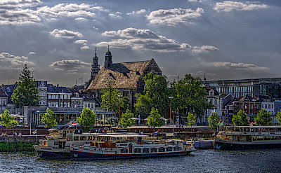 Maastricht on the Maas River in Limburg, the Netherlands. Flickr:Peter Koves
