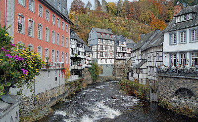 Monschau, Germany on the Rur River. Flickr:Gunter Hentschel