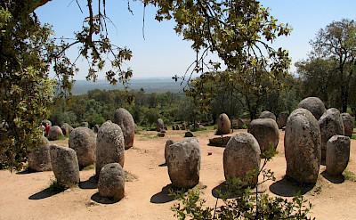 Megalithic Monuments are scattered throughout the Alentejo region. Photo courtesy of Tour Operator.