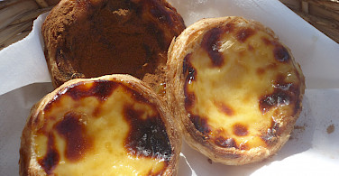 Pastéis de nata - a popular Portuguese egg tart pastry. Photo courtesy of Tour Operator.
