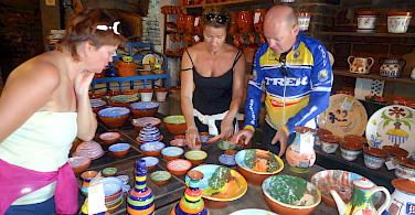 Colorful pottery in Portugal. Photo courtesy of Tour Operator.