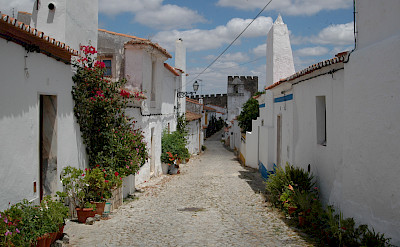 """Cobbled street in the """"white gold"""" city of Estremoz, Alentejo, Portugal. Photo courtesy of Tour Operator."""