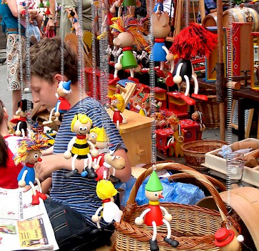 Toys for sale at the market in Croatia. Photo via Flickr:fraufrida