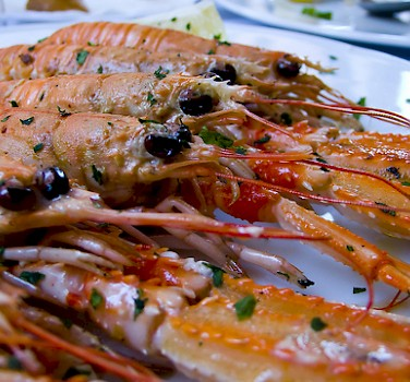 Shrimp, of course! Seafood is huge in Croatia. Photo via Flickr:stephen velasco